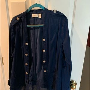 Chico's jacket with ruffles